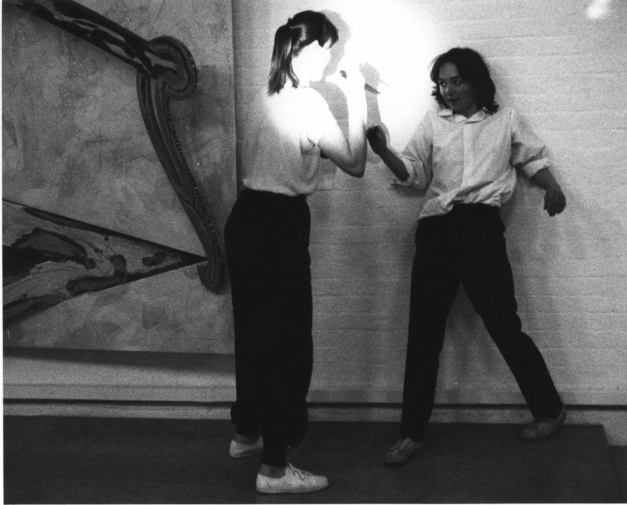 Rose English and Jacky Lansley and Sally Potter, Mounting, (1977). Photo courtesy Modern Art Oxford.