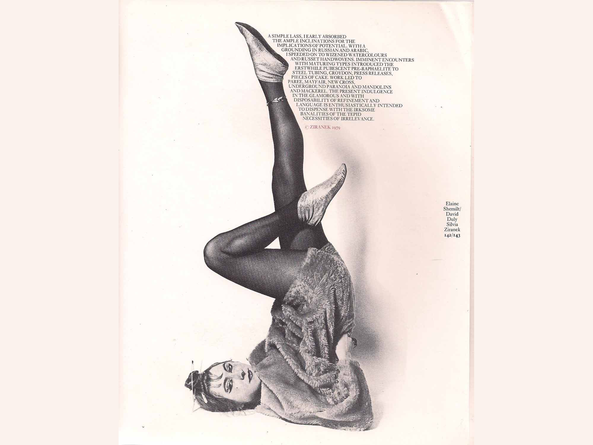 Silvia Ziranek, Chili Con Cardboard A Contemporary Triptych, (1979). Hayward Annual, London.