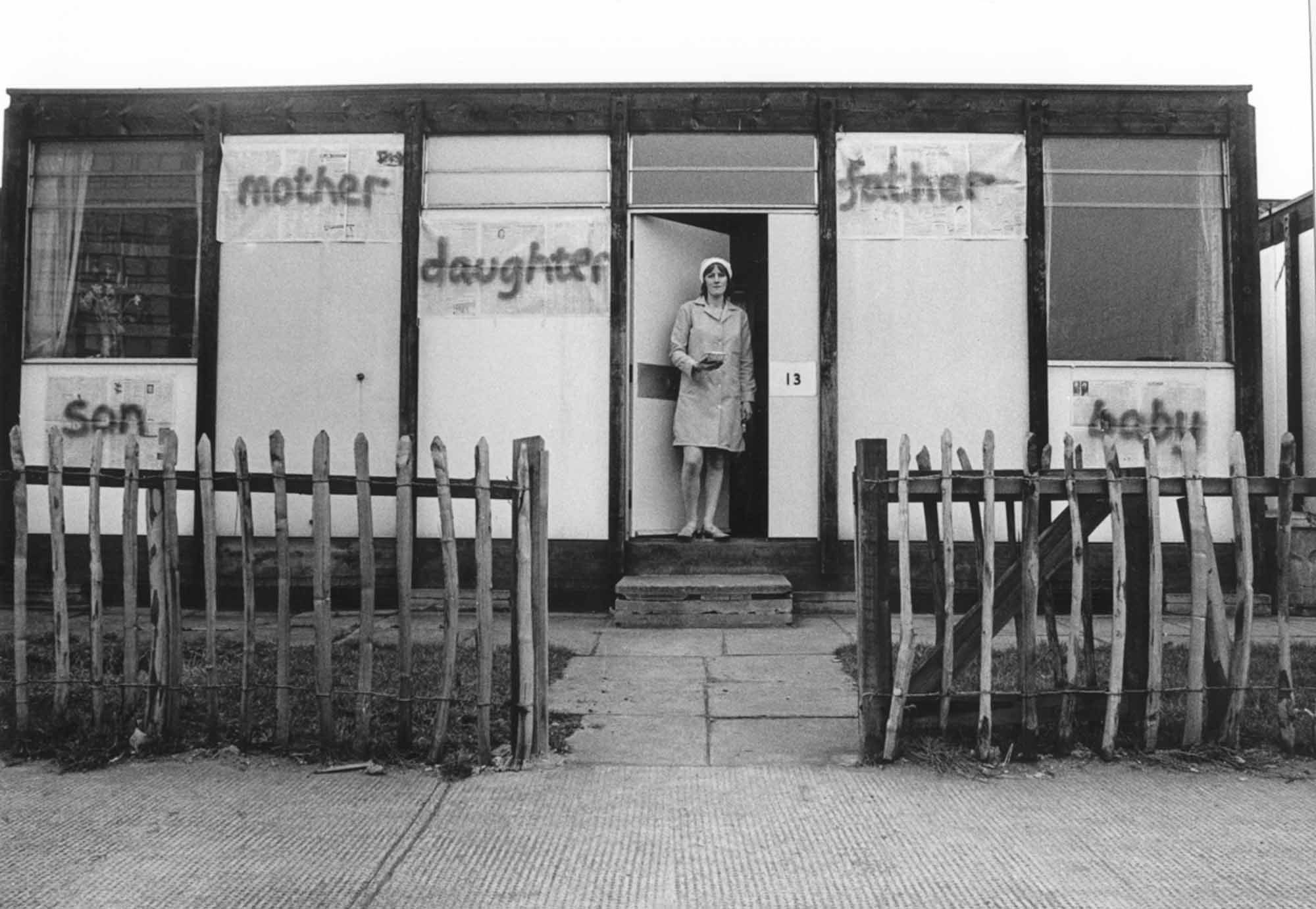 Bobby Baker, Edible Family in a Mobile Home at her prefab Acme house in Conder Street, London, E1. Photography Andrew Whittuck (1976), Courtesy of Acme Archive