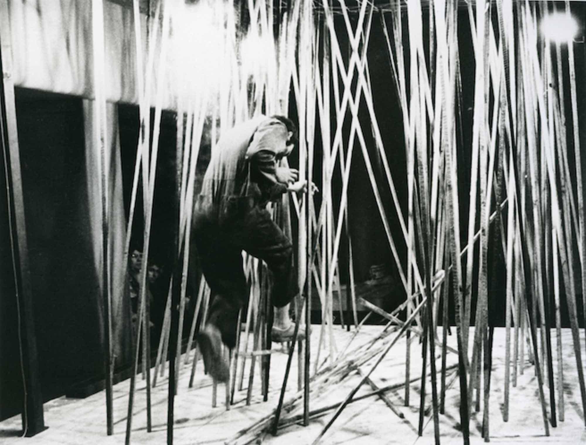 Nigel Rolfe, Running Man, (1978). Arts Council Gallery, Belfast, Northern Ireland.