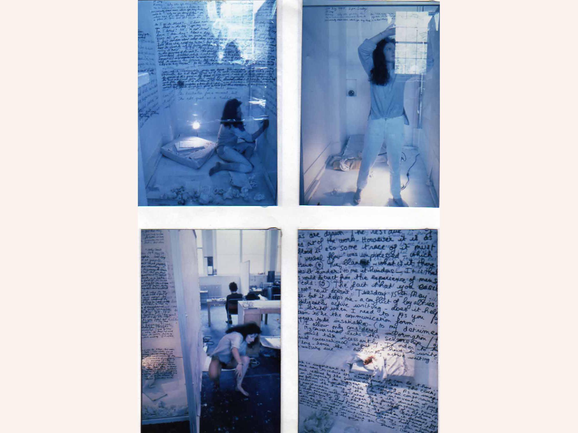 Catherine Elwes, Menstruation 1, 1979, Slade School of Art, London. Photo by John Muellbauer, Jean Matthee, Mandy Havers or Iain Robertson. Copyright Catherine Elwes