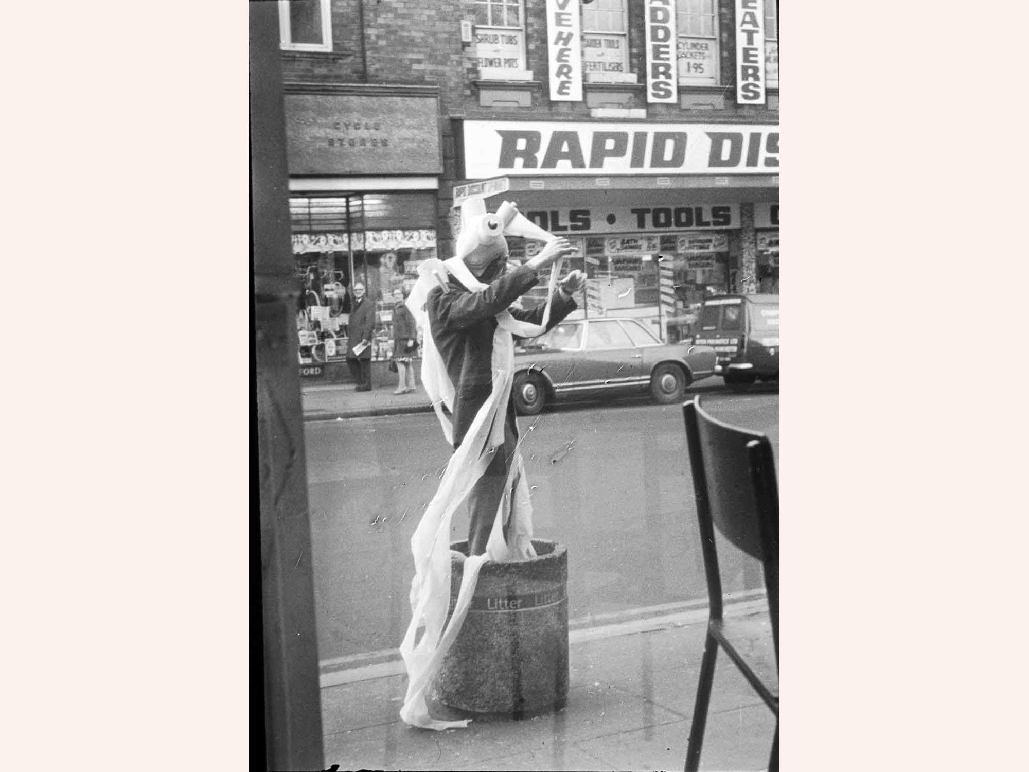 Marty St James, Live Social Sculpture, (1976).