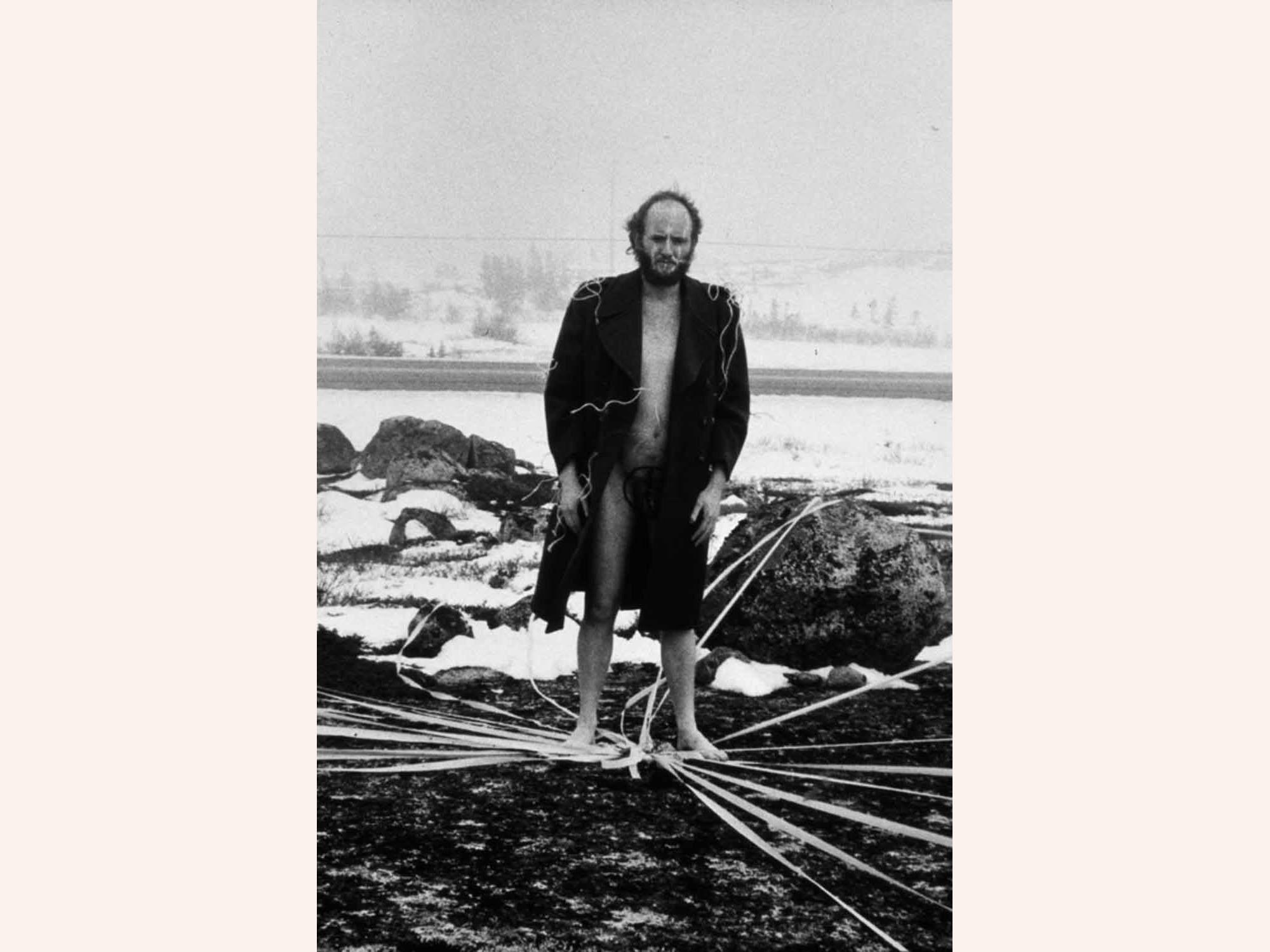Alastair MacLennan - 1971 Performance - Nr Peggy's Cove, Nova Scotia, Canada © The Alastair MacLennan Archive : Locus+