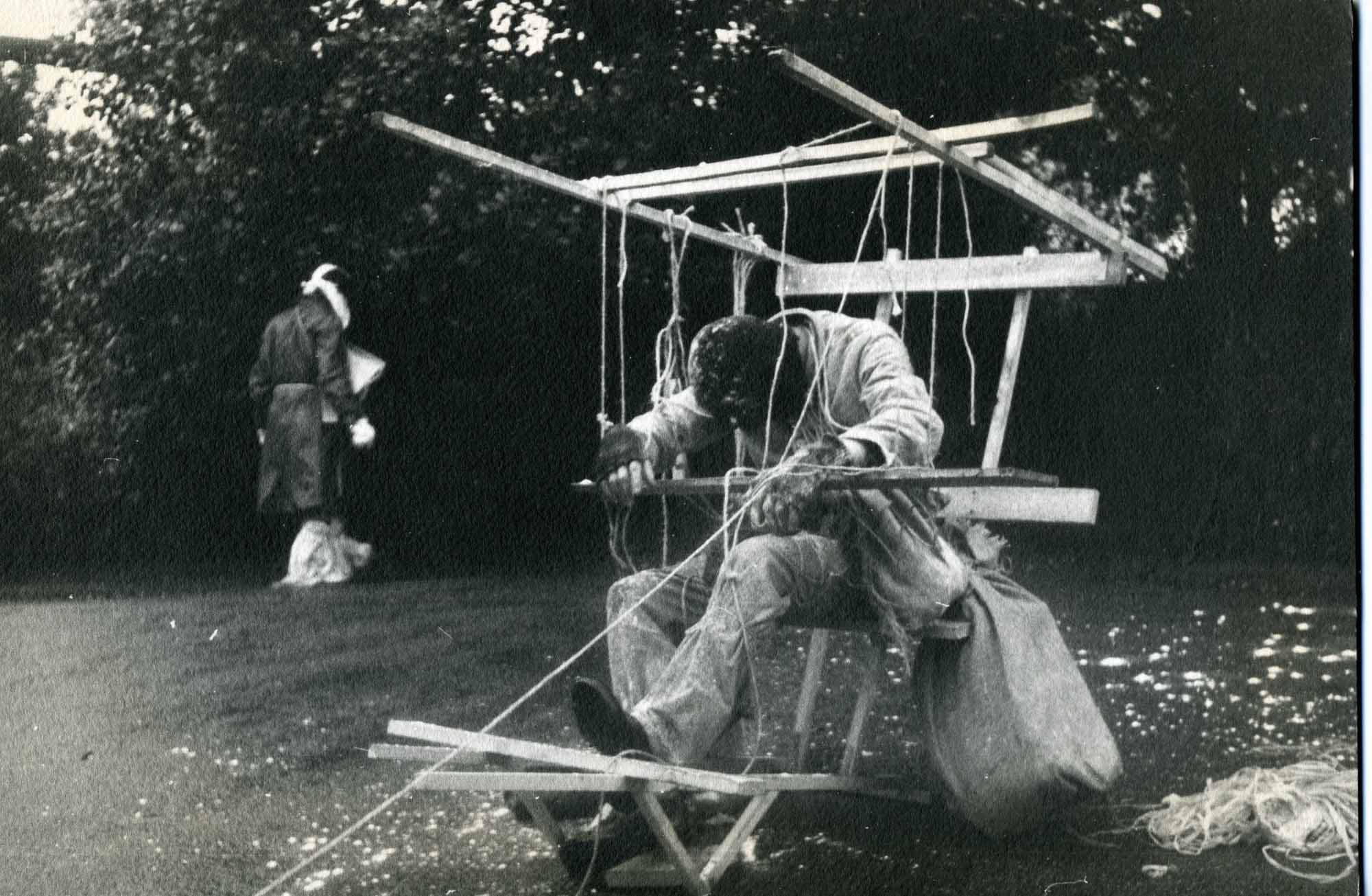 Richard Layzell, NNYN (No no yah no) , 1970, Regents Park, London. Photo by Mavis Taylor