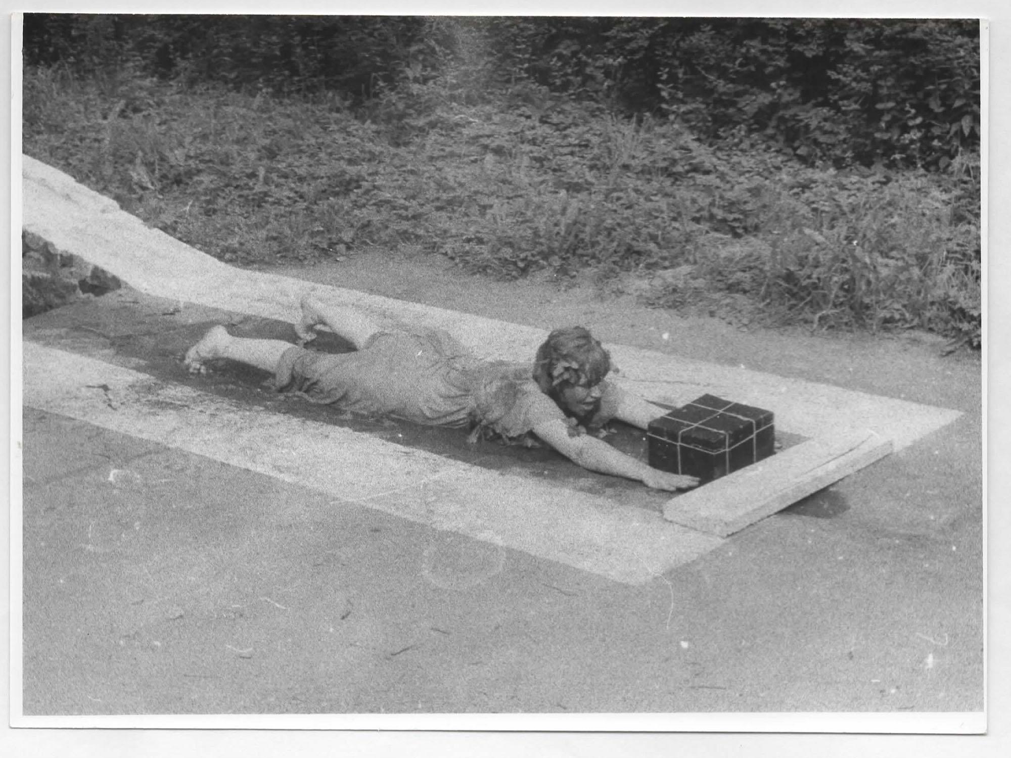 Shirley Cameron and Roland Miller, Inspection Pit, (1978). 45 minutes, Plener Miastko, International Symposium, Warcino, Poland.